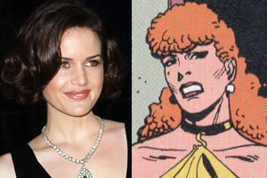 "Carla Gugino is Sally Jupiter aka The ""Original"" Silk Spectre"