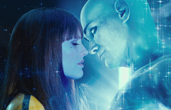 Silk Spectre II and Dr. Manhattan