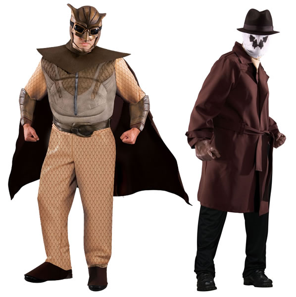 Nite Owl and Rorschach costumes
