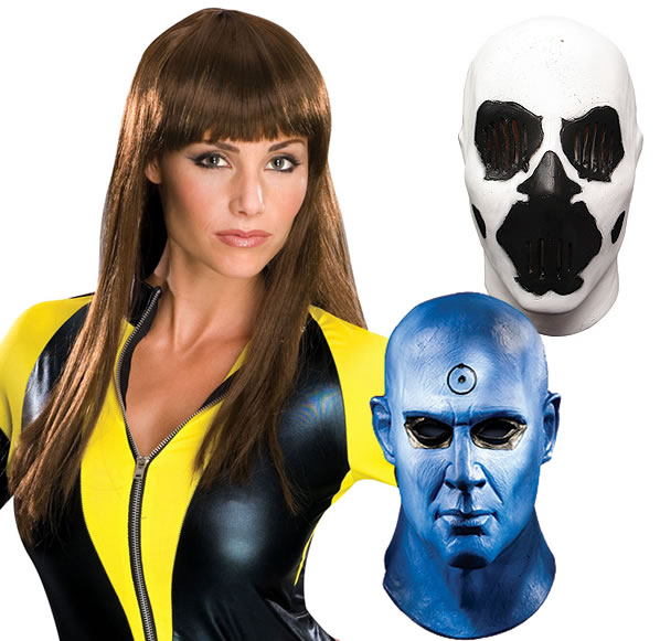 Silk Spectre II costume and wig and character masks