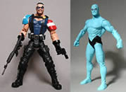 Custom Comedian and Dr. Manhattan Action Figures