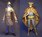 Custom Rorschach and Nite-Owl Action Figures