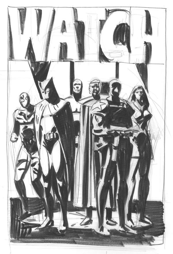 Watchmen concept art By Dave Gibbons
