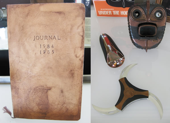 Rorschach's journal and Nite Owl II gadgets