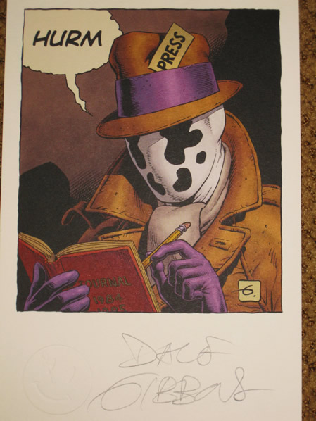 Close up of the Rorschach lithograph